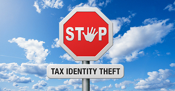 Stop Sign with the words Tax Identity Theft below