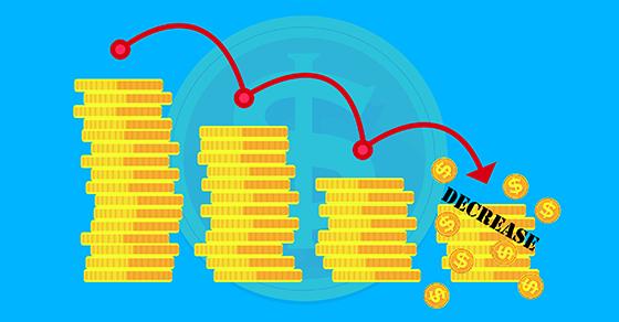 Illustration of descending coins