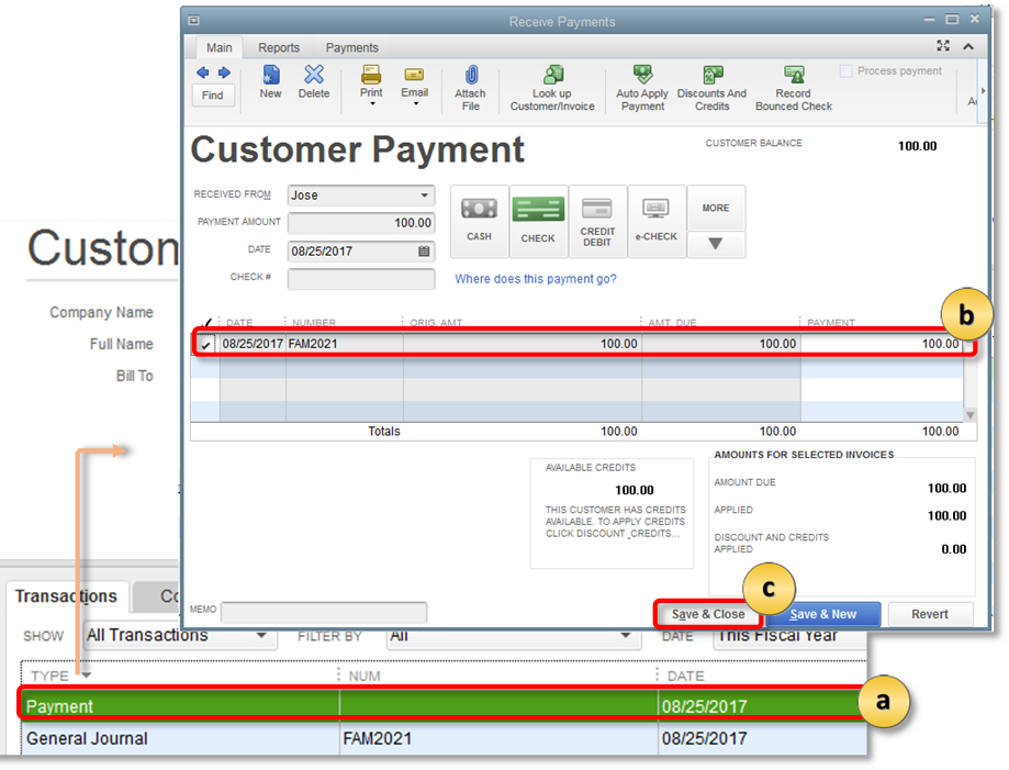 QuickBooks 2019 Feature Spotlight: Transfer Credits