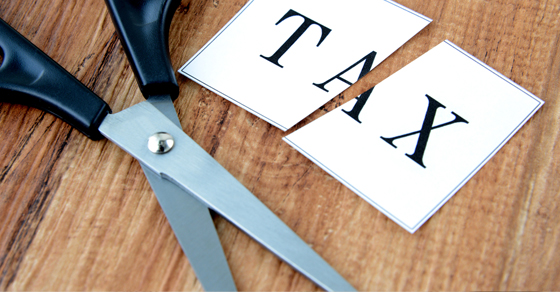 Tax Cut with Scissors