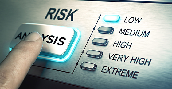 Touchscreen that reads RISK ANALYSIS