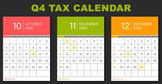 Graphic of Q4 tax calendar