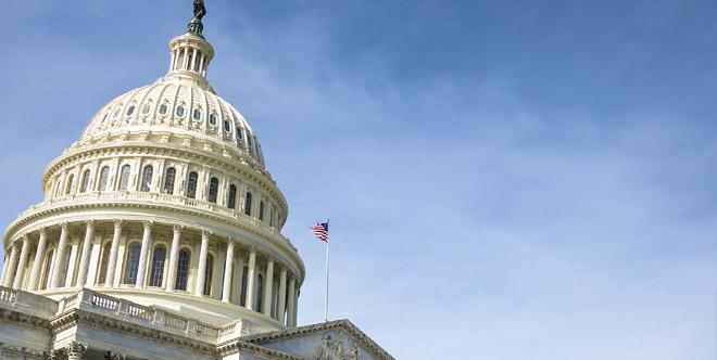 U.S Capital building with blue skies