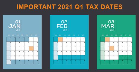 1st quarter calendar