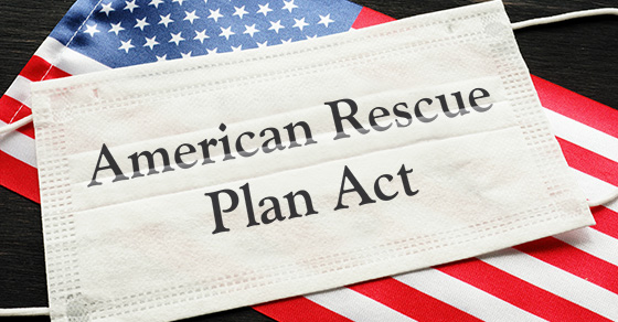 American Rescue Plan Act on a face mask