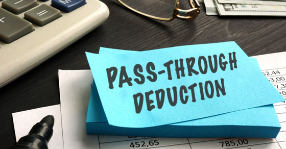 Pass-Through Deduction on a notepad